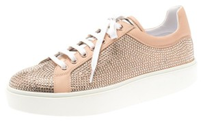 Le Silla Leather Crystal Pink Flats