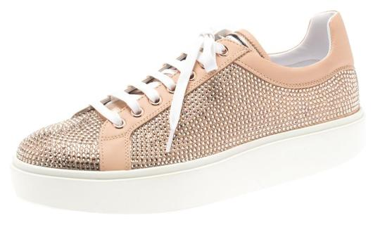 Preload https://img-static.tradesy.com/item/25310795/le-silla-pink-peach-crystal-embellished-leather-lace-up-platform-sneakers-flats-size-eu-39-approx-us-0-1-540-540.jpg