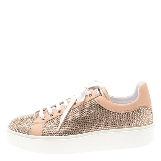 Le Silla Leather Crystal Pink Flats Image 1