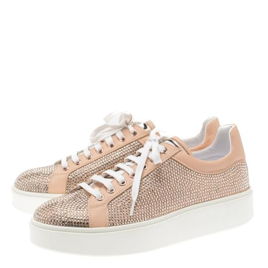 Le Silla Leather Crystal Pink Flats Image 2