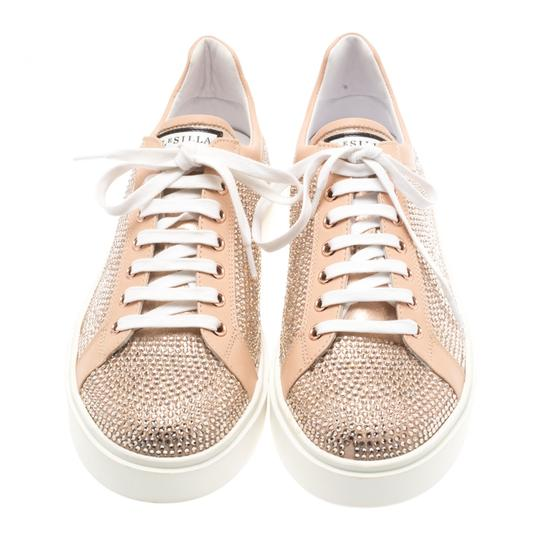 Le Silla Leather Crystal Pink Flats Image 3