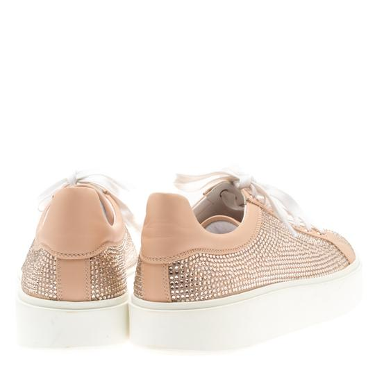 Le Silla Leather Crystal Pink Flats Image 5