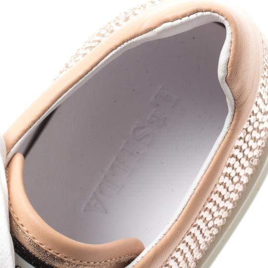 Le Silla Leather Crystal Pink Flats Image 6