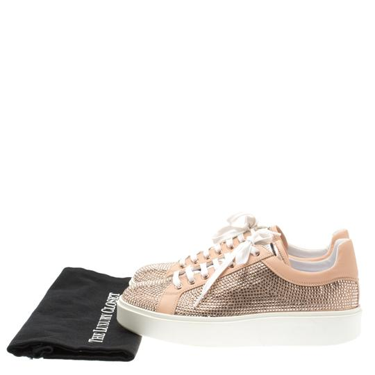 Le Silla Leather Crystal Pink Flats Image 7