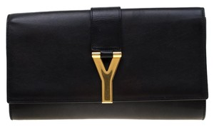 Saint Laurent Leather Black Clutch