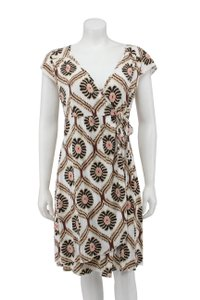 Fresh Produce short dress Brown Floral Jersey Wrap on Tradesy