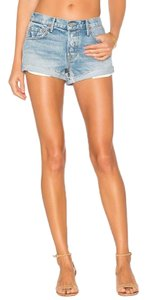 GRLFRND Cuffed Shorts light wash blue