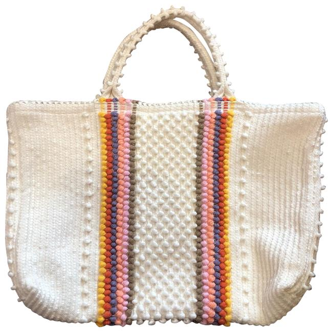 Item - Summer Fun Vibrant Colors Never Used Ivory Cotton Blend Tote