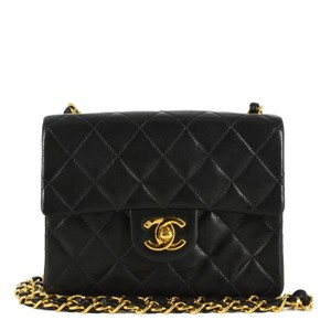 491ce686f1e1 Chanel Vintage Leather Chain Gold Hardware Quilted Shoulder Bag
