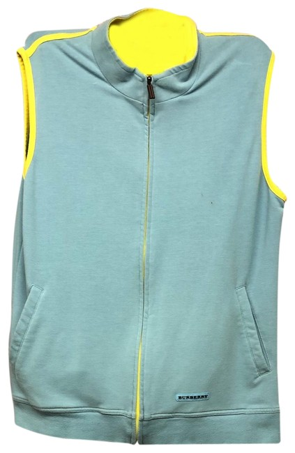 Item - Blue Golf Yellow Trim Light Cotton Vest M Blouse Size 8 (M)