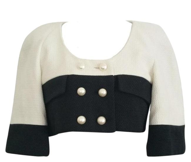 Chanel Signature Tweed Pearl Black and White Blazer Image 0