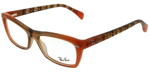 8bfa71bd21 Ray-Ban RX5255-5487-51 Cat Eye Women s Brown Frame Clear Lens Eyeglasses