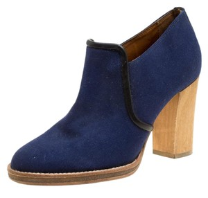 Isabel Marant Canvas Rubber Leather Blue Boots