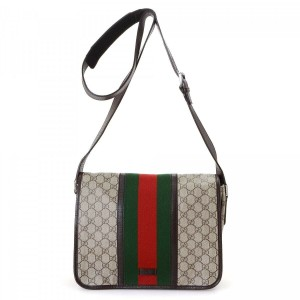 Gucci Web Messenger Gg Supreme Cross Body Bag