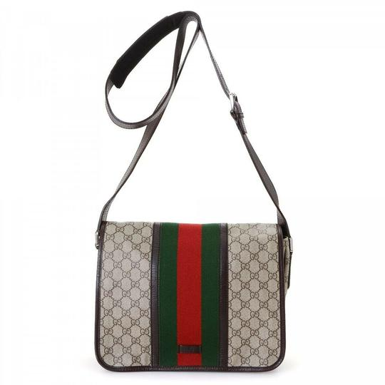 Gucci Web Messenger Gg Supreme Cross Body Bag Image 0