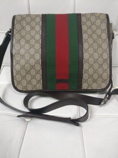 Gucci Web Messenger Gg Supreme Cross Body Bag Image 2