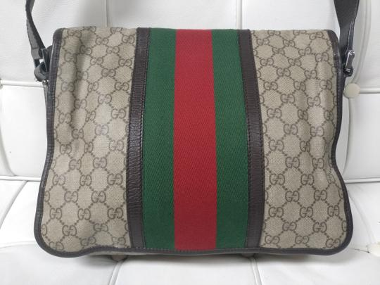 Gucci Web Messenger Gg Supreme Cross Body Bag Image 4