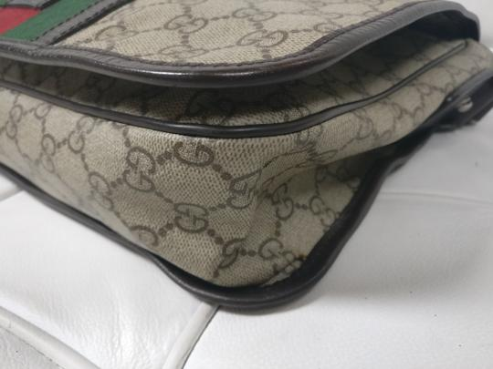 Gucci Web Messenger Gg Supreme Cross Body Bag Image 8
