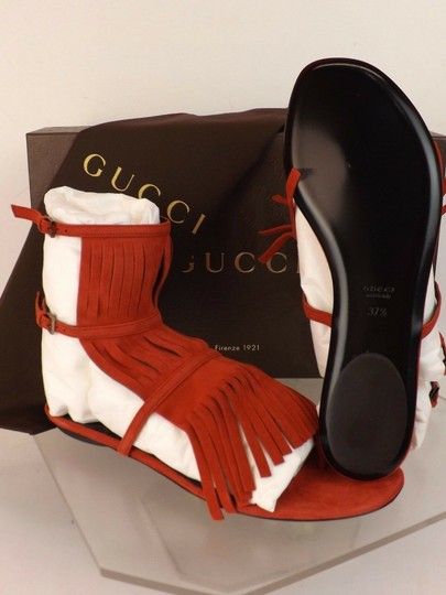 Gucci Red Sandals Image 3