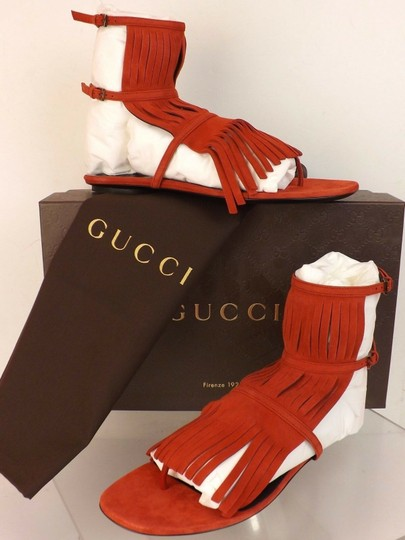 Gucci Red Sandals Image 5