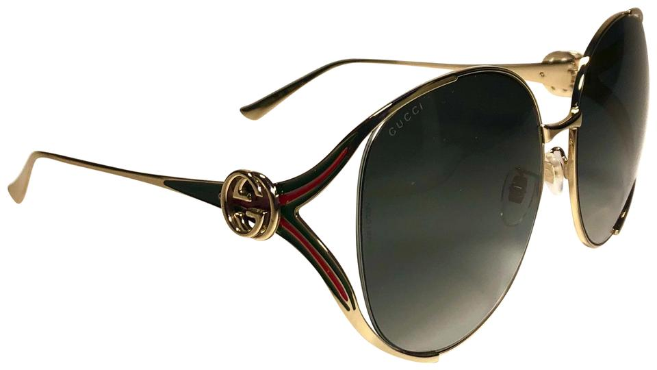 becd56e633f1 Gold Gucci Sunglasses - Up to 70% off at Tradesy