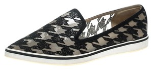 Nicholas Kirkwood Mesh Leather Rubber Black Flats