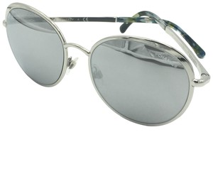 Chanel Round Silver Mirrored Sunglasses 4206 124/6G