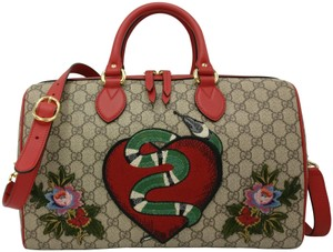 a6315d4272f007 Gucci Limited Edition Kingsnake Canvas Wristlet - Tradesy