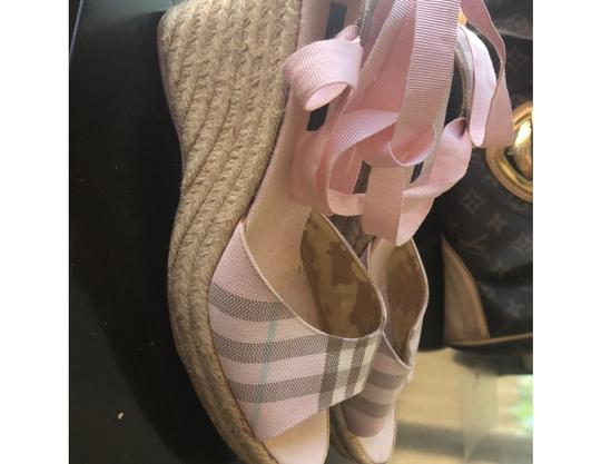 Burberry pink Wedges Image 1