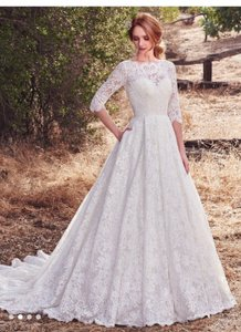 Maggie Sottero Ivory Lace Cordelia Formal Wedding Dress Size 6 (S)
