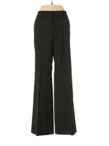 Ann Taylor Wool Cotton Relaxed Wide Leg Trouser Pants Charcoal Gray
