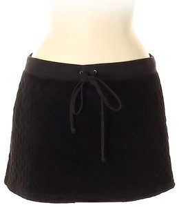 Juicy Couture Swim Quilted Velour Mini Skirt Black