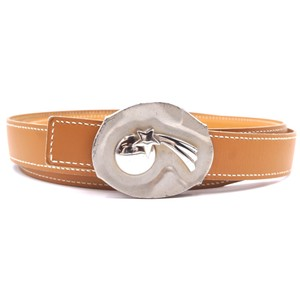 Hermès RARE Shooting Star Silver Belt Size 100 Reversible leather Belt