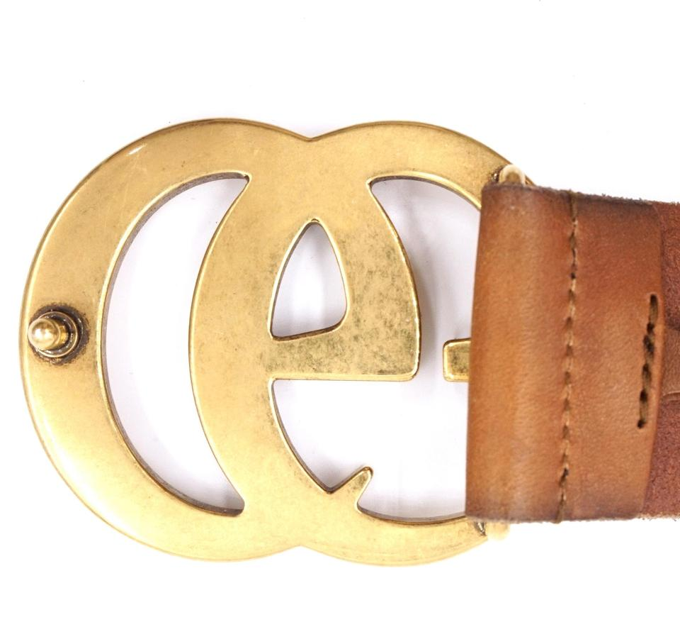 88d814165 Gucci GG Marmont logo gold buckle leather Belt Size 75 30 Image 9.  12345678910