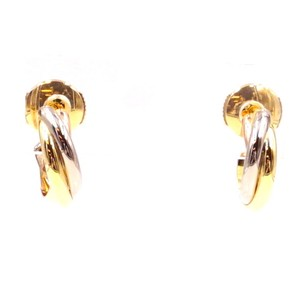 Cartier Trinity Gold White Yellow Rose Pink 750 Earrings