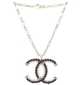 Chanel Oversized Large CC Crystals Gripoix Baguette gold choker necklace