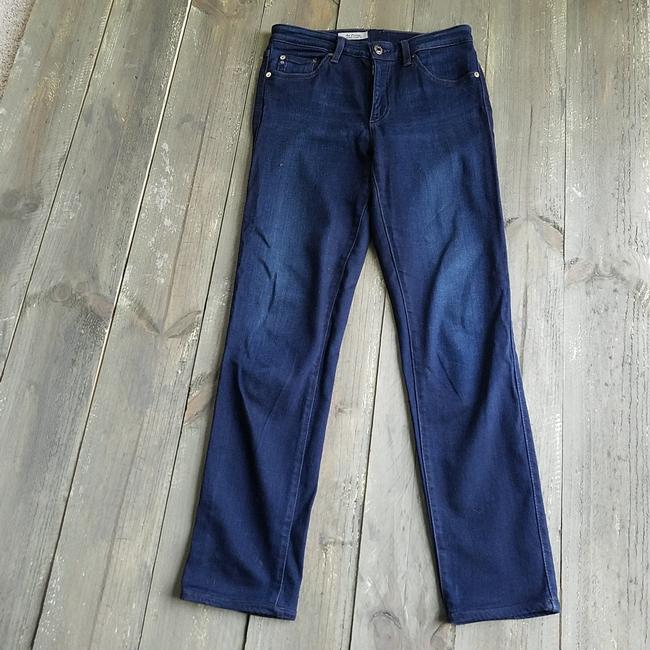 AG Adriano Goldschmied Blue Dark Rinse The Prima Mid-rise Cigarette Straight Leg Jeans Size 29 (6, M) AG Adriano Goldschmied Blue Dark Rinse The Prima Mid-rise Cigarette Straight Leg Jeans Size 29 (6, M) Image 1