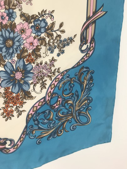 Gucci In stores now 2019 Gucci Silk Carre with Flowers and Tassel Silk Scarf Image 5