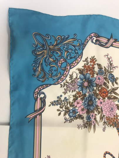 Gucci In stores now 2019 Gucci Silk Carre with Flowers and Tassel Silk Scarf Image 6