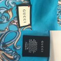 Gucci In stores now 2019 Gucci Silk Carre with Flowers and Tassel Silk Scarf Image 7
