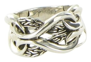 John Hardy Asli Classic Chain 13.5mm Ring Sterling Silver RB90116X7 Size 7