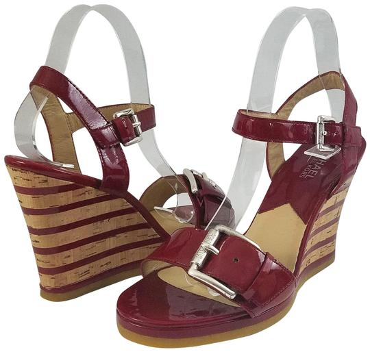 Michael Kors Red Wedge Sandals Size US