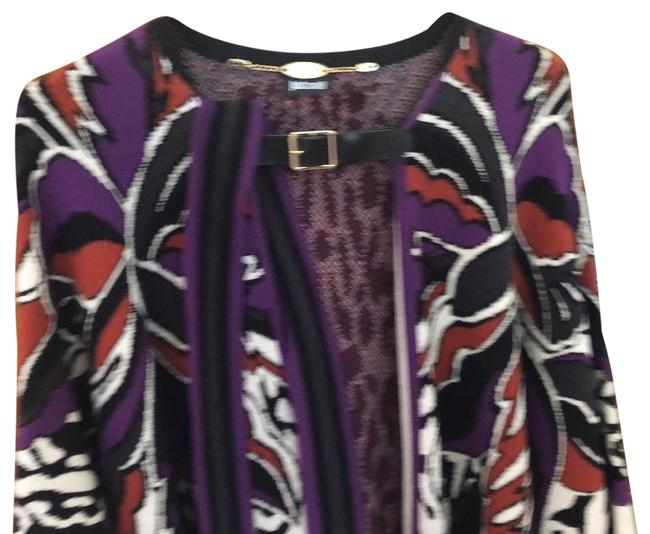 Item - Multi Colored Black/ Purple/ White New Wool Poncho/Cape Size OS (one size)