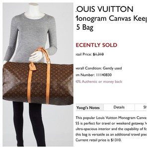 5ed97e568dbb Louis Vuitton Travel Bags and Duffels - Up to 70% off at Tradesy