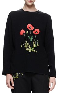 Stella McCartney Embroidered Floral Top Black