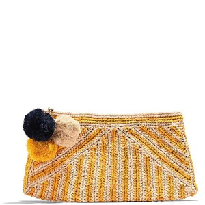 Mar Y Sol Striped Summer Party Preppy Night Out Sunflower Clutch