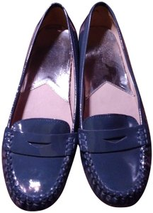 Michael Kors Patent Leather Loafers Teal Flats