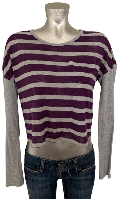 Item - Grey/Purple Long-sleeve Tee Shirt Size 6 (S)