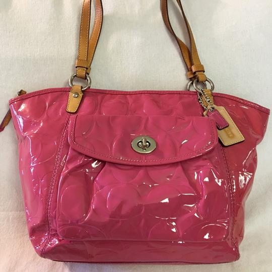 Coach Tote in Pink Image 6