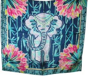 Lilly Pulitzer Square Gray Elephant Motif